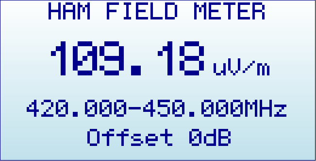 RFExplorer HAM FieldMeter