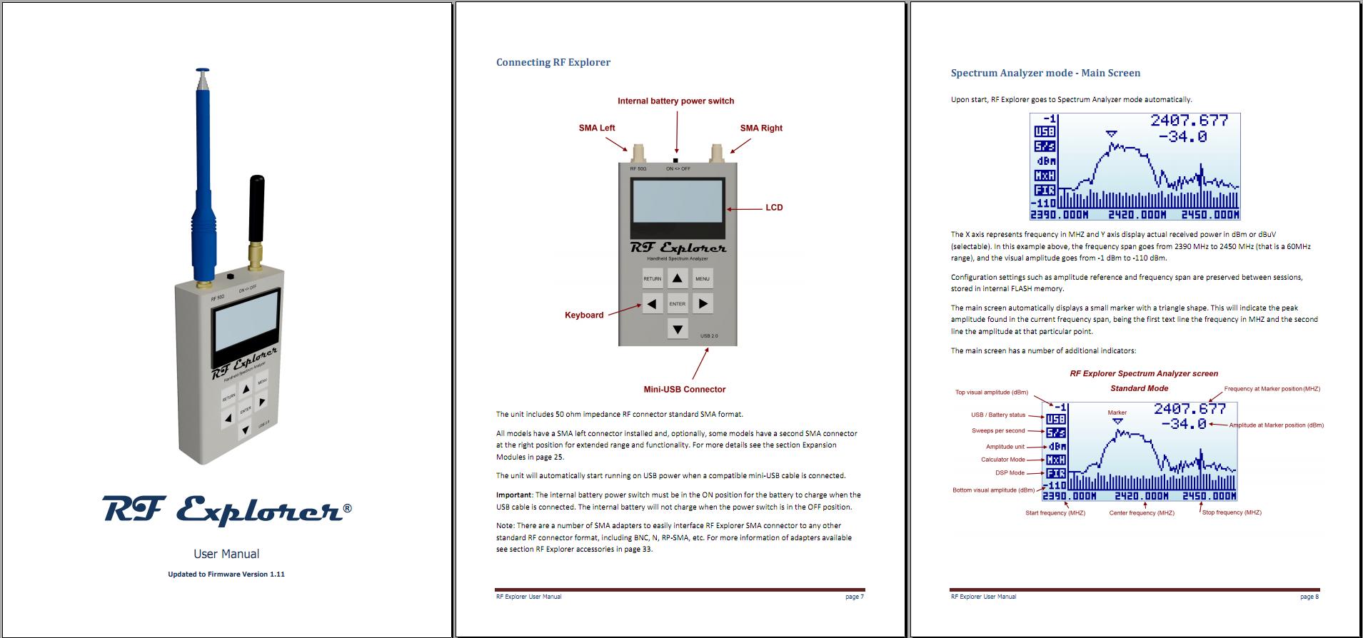 RF Explorer User Manual - updated